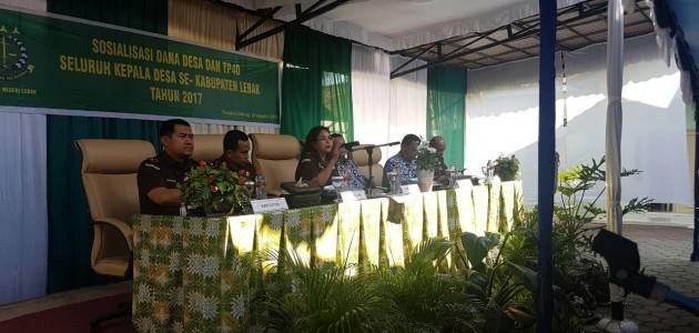 Sosialisasi TP4D kepada seluruh Kepala Desa se Provinsi Banten